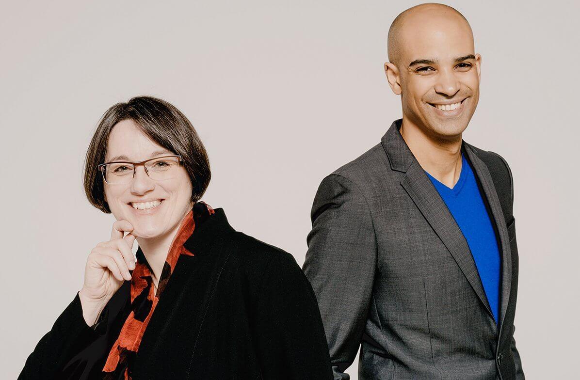 Kevin John Edusei und Annette Josef